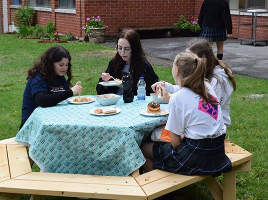 Special initiatives such as Big/Little Sisters (matching Senior and Junior girls over the course of the year) help to build bridges between the lower and higher grades.