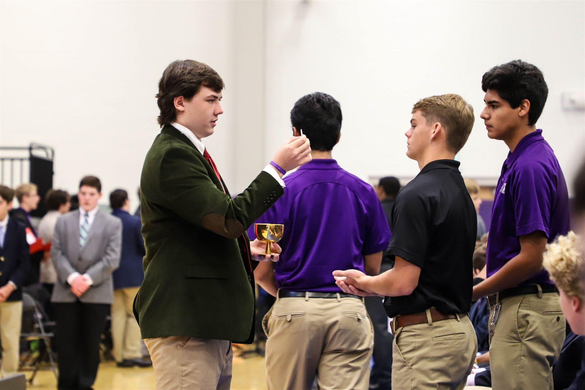 Students, faculty, and staff celebrate Opening Mass to start the school year.