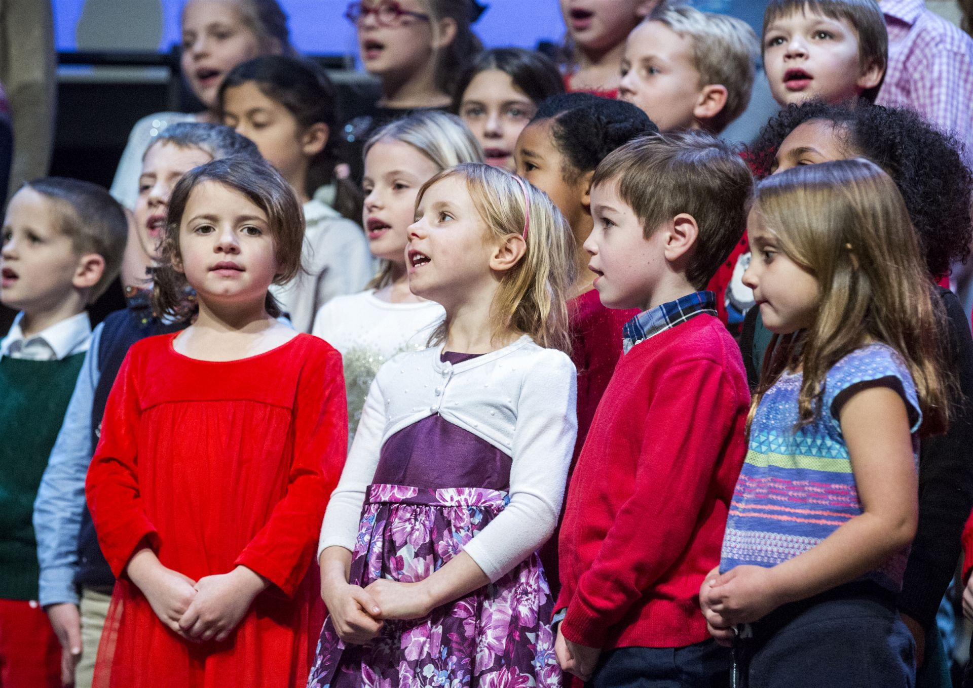 Lower School students perform at the Lower School Winter Choral Concert