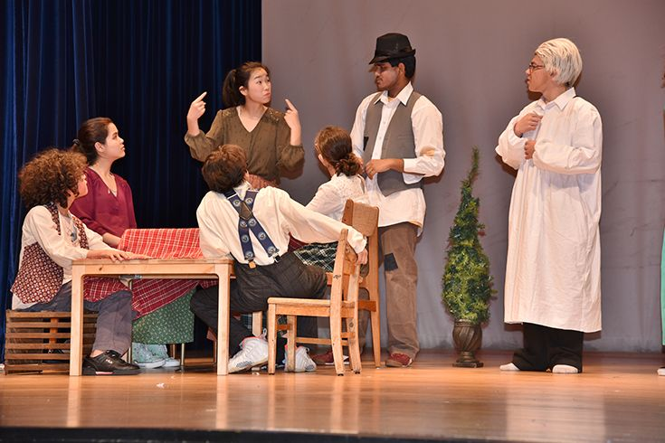High school production of A Christmas Carol