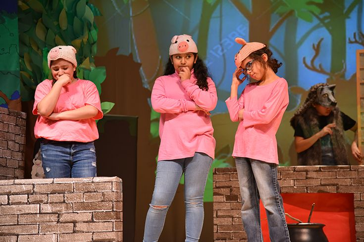 Scene from the 2019 middle school play