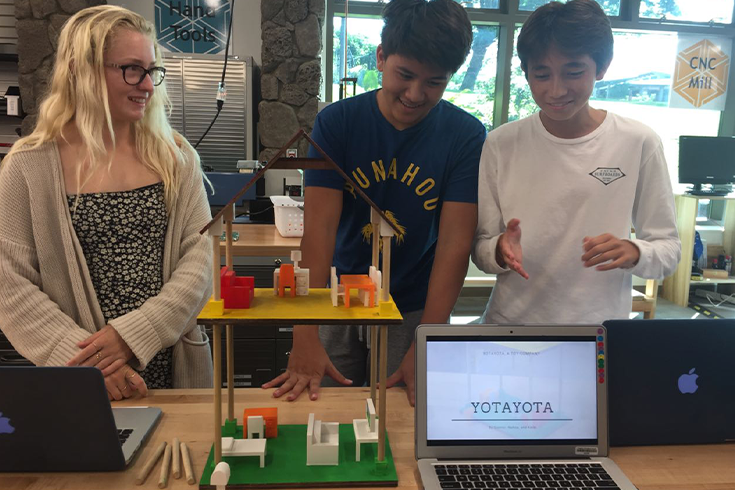 9th graders design and pitch toys that integrate the UN Sustainable Development Goals.