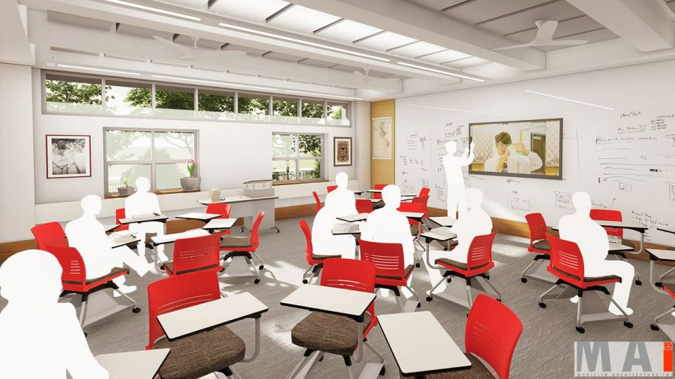 Although our students and faculty have imaginatively adapted in our current building, they deserve modern classrooms worthy of the work they produce and conductive to their vision of what could be. Agile spaces with supporting technology will improve teachers' ability to shift from group work to lectures to real-time assessments of student learning--giving them flexibility to move around the classroom, to more easily interact with students and to promote a come collaborative environment.