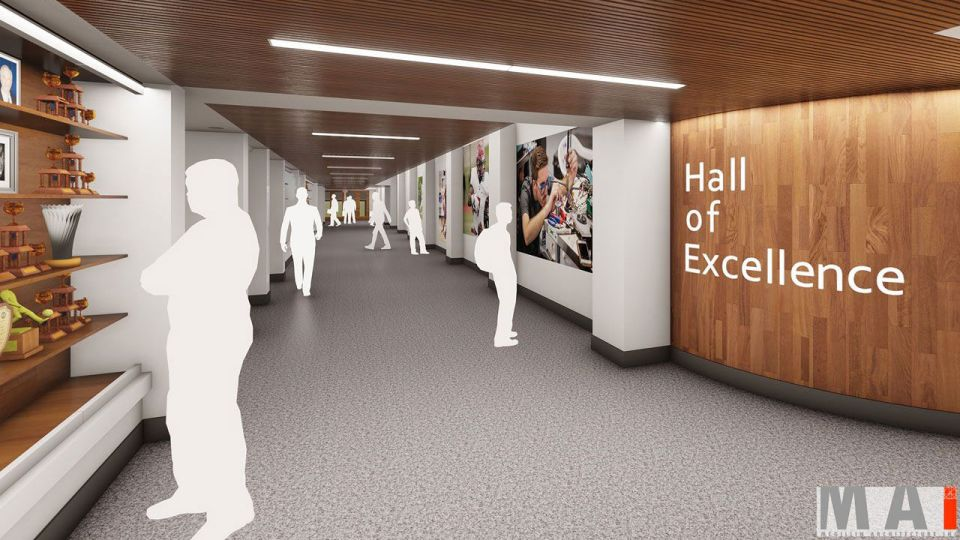 The Hall of Excellence will be a space to acknowledge students and alumni on their accomplishments across all areas of the Prep.