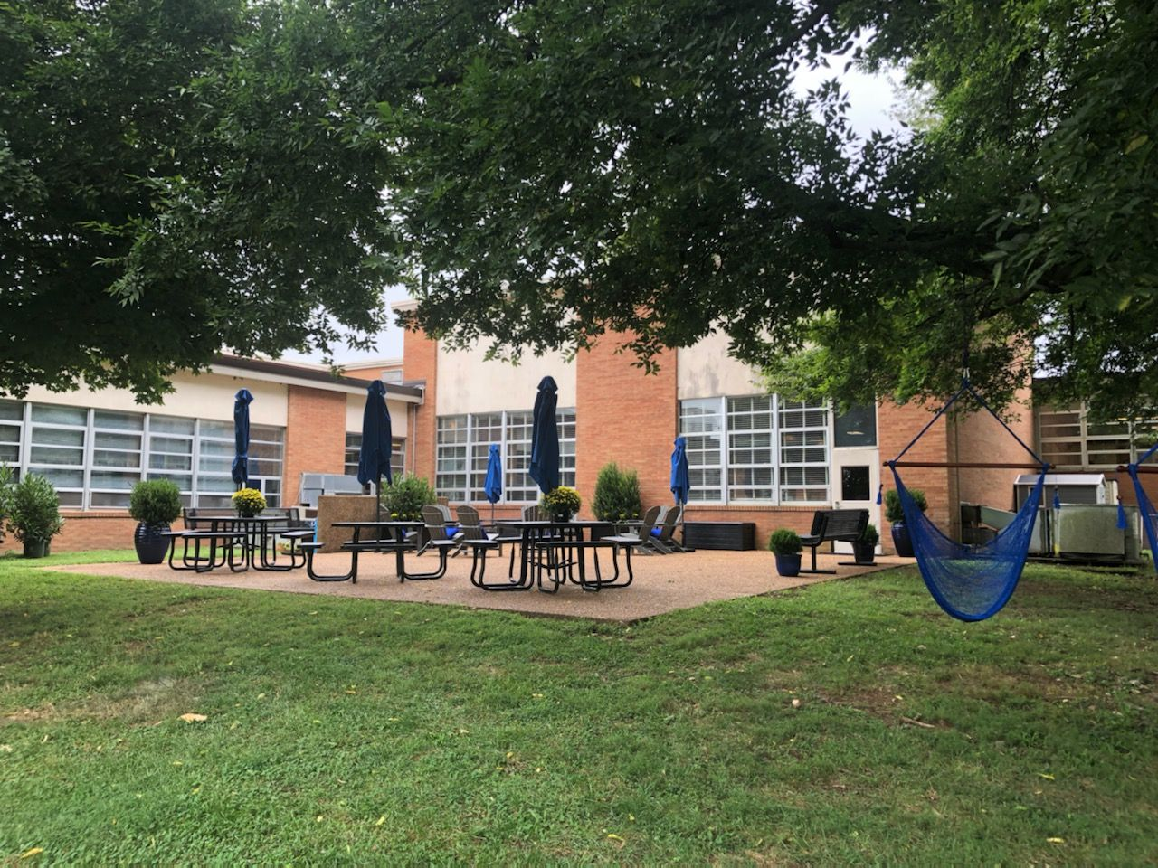 A wonderful space to relax or have class outside!