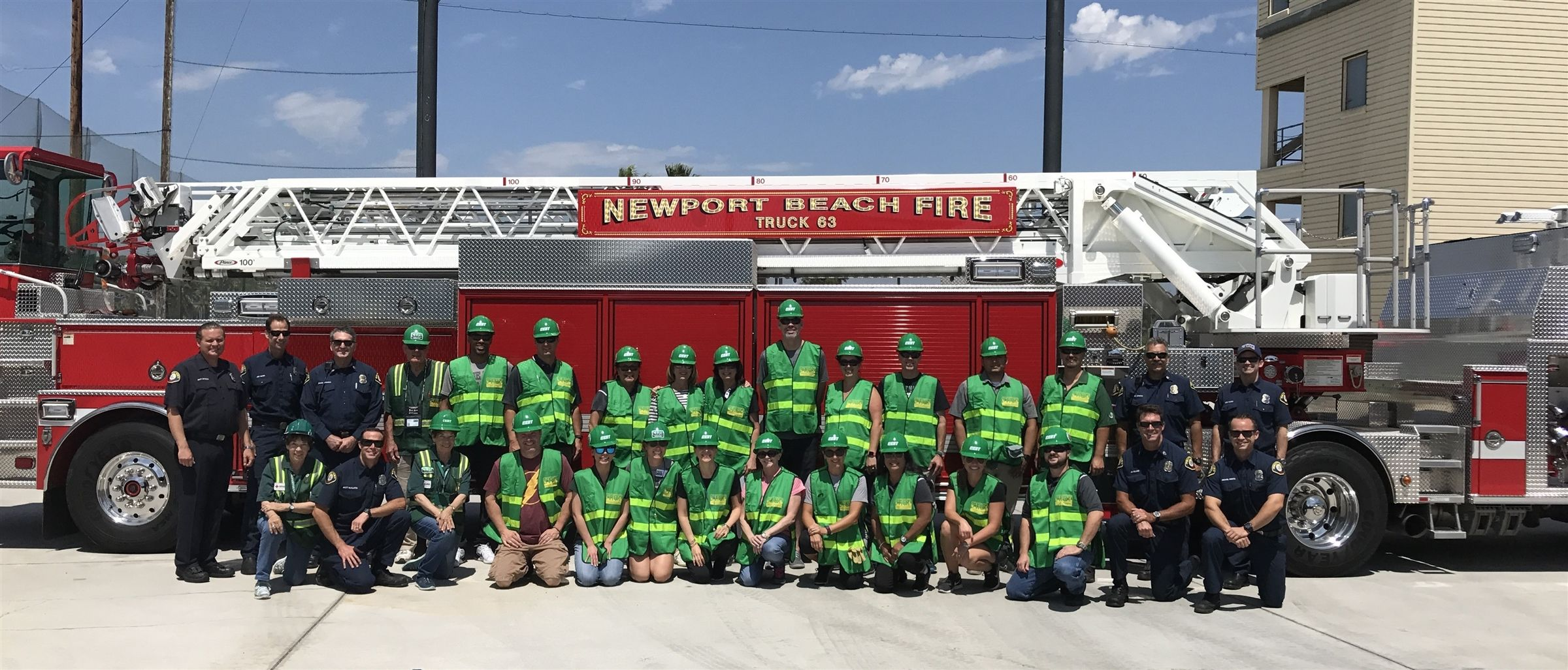 Sage Hill employees participate in the Newport Beach Fire Department's Community Emergency Response Team (CERT) training. Employees are also all trained in basic first aid and CPR.