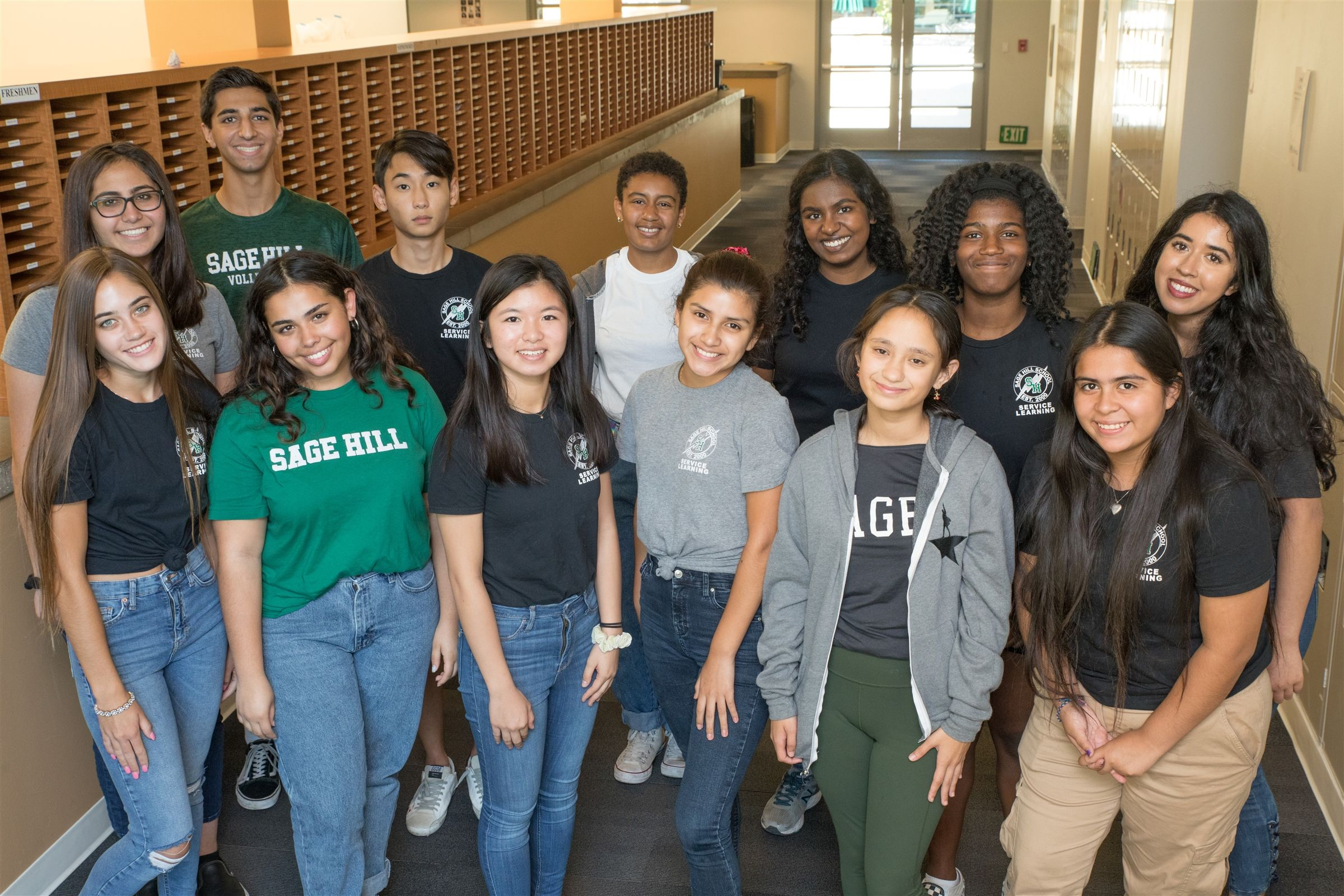 Members of Sage Advocates of Multicultural Education (S.A.M.E.) advocate for respect and acceptance.