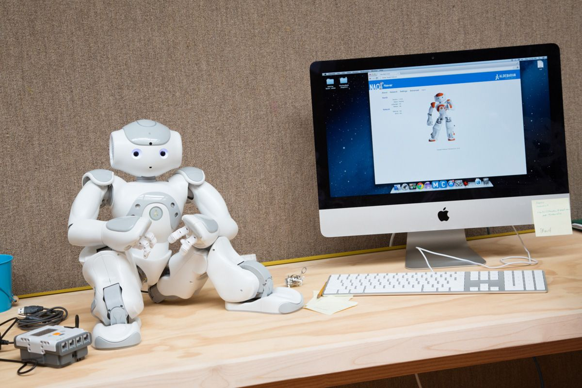 Our Robotics Lab is home to two NAO Robots, Lego Mindstorm robots, a 3-D printer, and a laser engraver.
