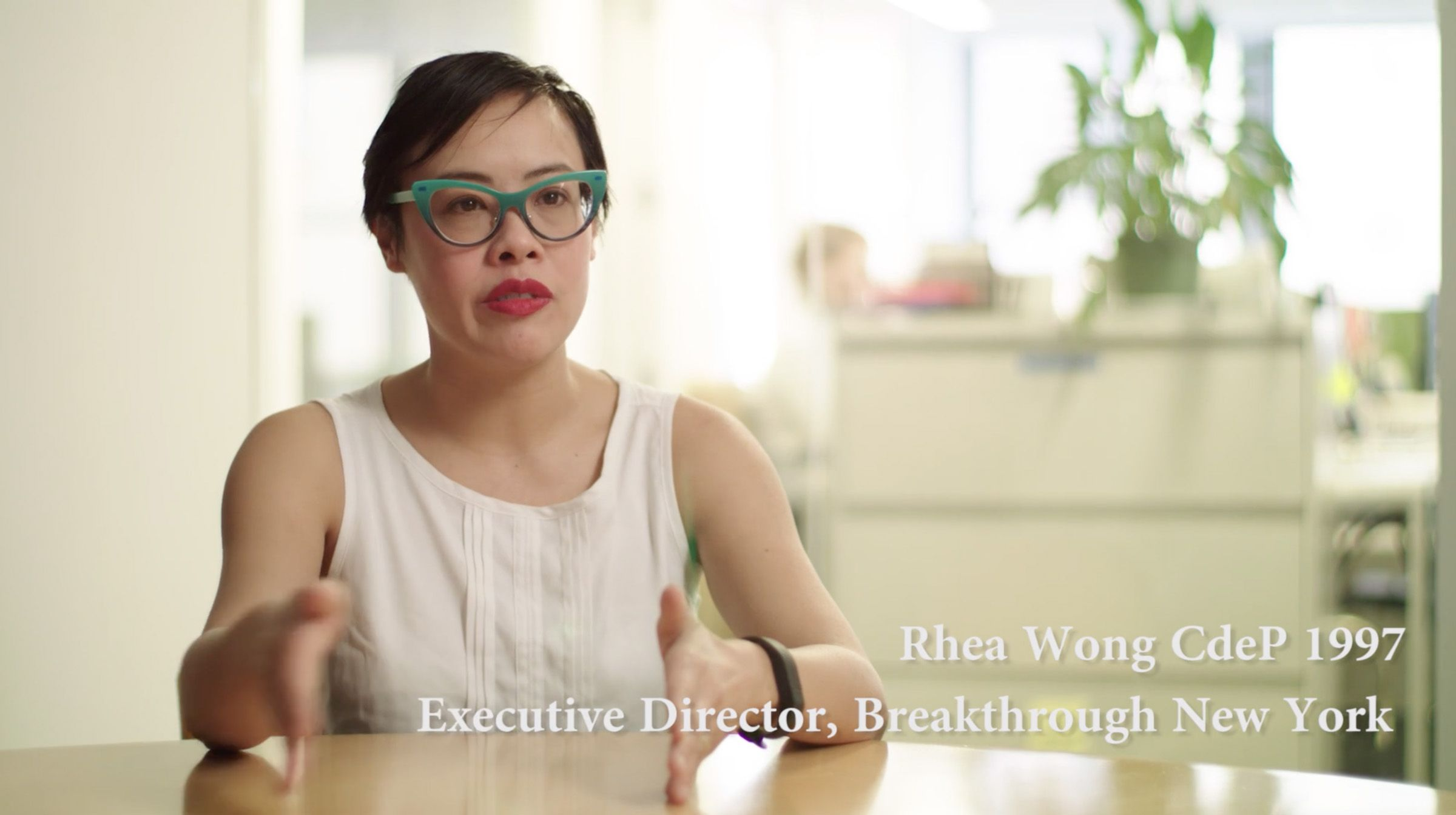 """In ways that are not even obvious to me, Thacher has really impacted the way that I think about kids; the way I think about education, think about community."" Rhea Wong CdeP 1997"