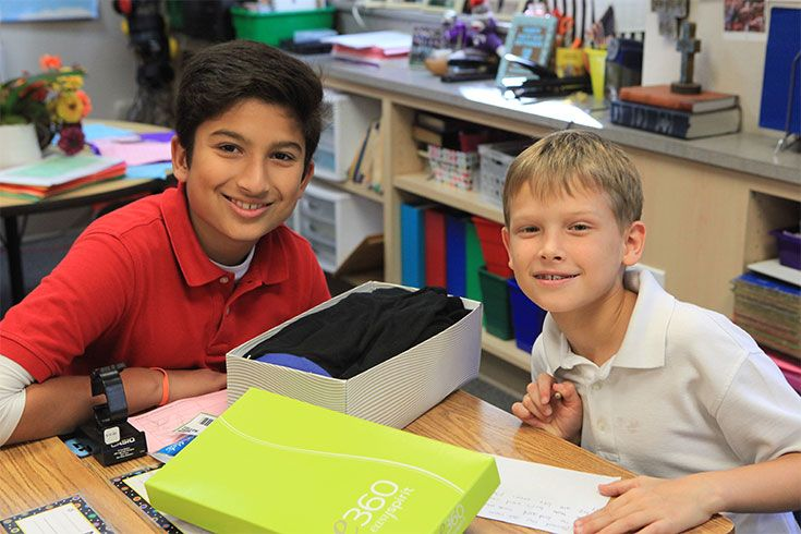 Pairing older and younger students in buddy partnerships amplifies the family atmosphere at ROBS.