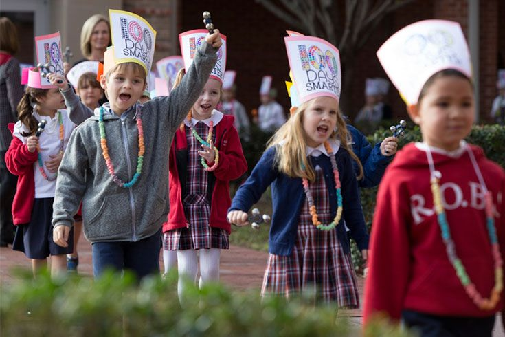 The unit on the 100th day of school culminates with a cherished and joyful tradition: a lively parade across campus—kids counting to 100 by ones, fives, and tens—as older students line the halls to join them and remember.