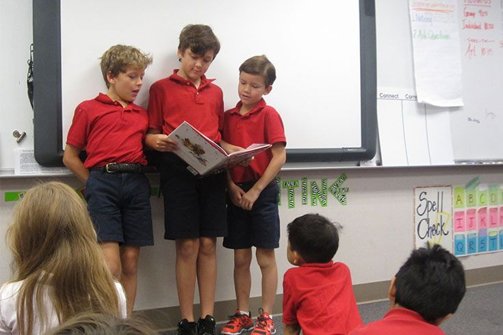 "There's a saying that a person should read 100 poems before he tries to write one. Our third graders take it one step farther: Their commitment to ""Poetry 101"" includes poetry readings to practice public speaking."
