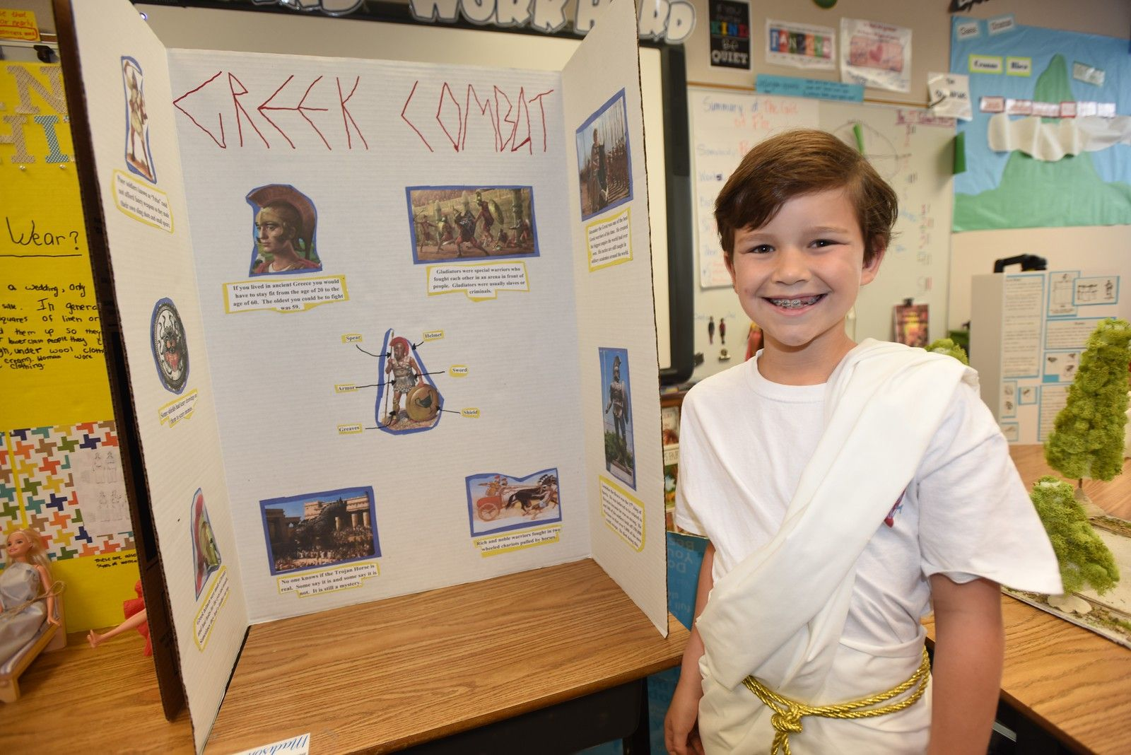 Our study of ancient Greece and mythology fuels students' creativity and imagination.