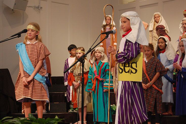 Each year the Lower School upperclassmen entertain and educate audiences with a musical cleverly performed with depth, humor, and creativity. Moses and the Israelites took center stage in this year's performance.