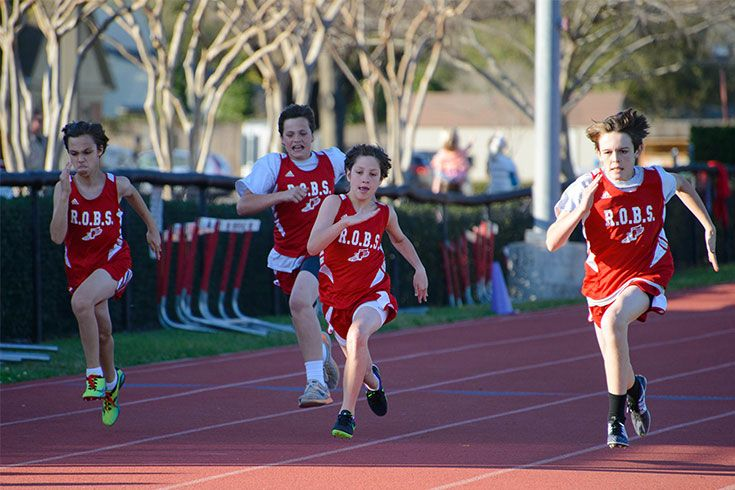 Sixth graders compete for the first time as Raiders in cross country and track and field.