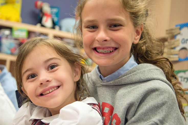 Sixth graders have the all-important role of mentoring Kindergarteners in our buddy program. As their relationship strengthens throughout the year, even the shyest six-year olds blossom.