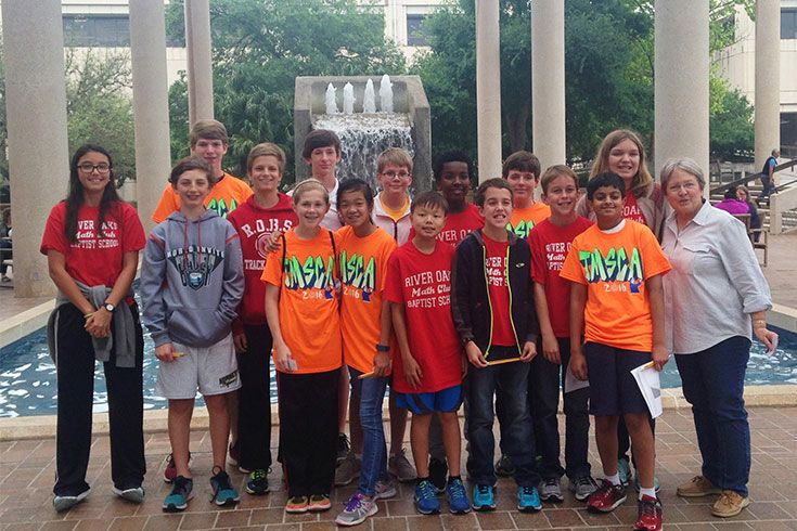 Nine sixth graders who participate in the Math Club qualified for the state math and science championship in San Antonio.