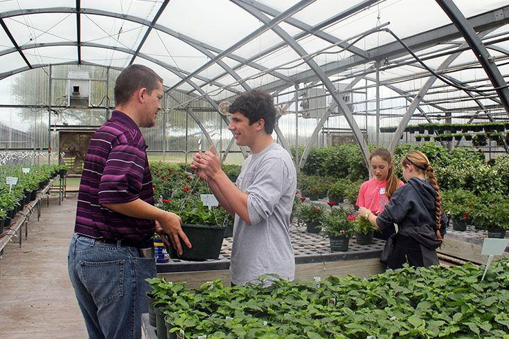 As our grade-level service project, the seventh grade class will spend a day at the Brookwood Community working alongside its developmentally disabled citizens in the greenhouse, pottery studio, and gym.