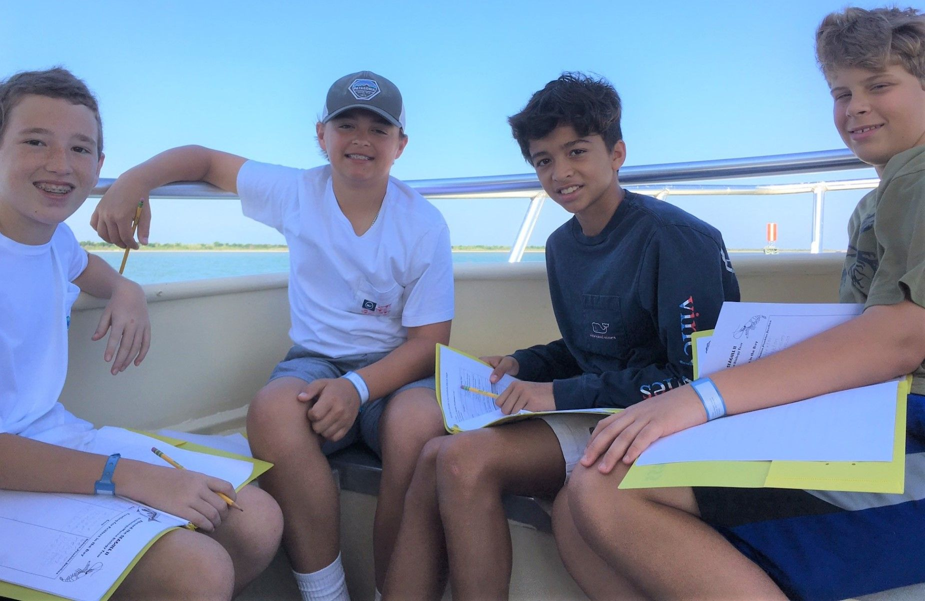 Students study environmental impact in Galveston.