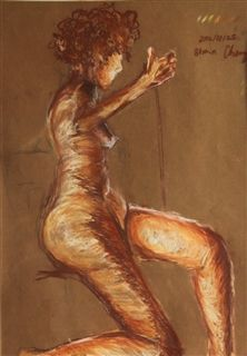 """Figure Drawing 1"" Pastel on paper, 2012"