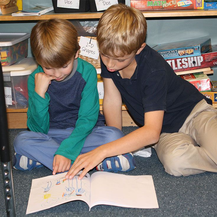"The Partner Program pairs individual children in one grade with a ""partner"" in another grade providing children with opportunities to learn, to teach, and to share."