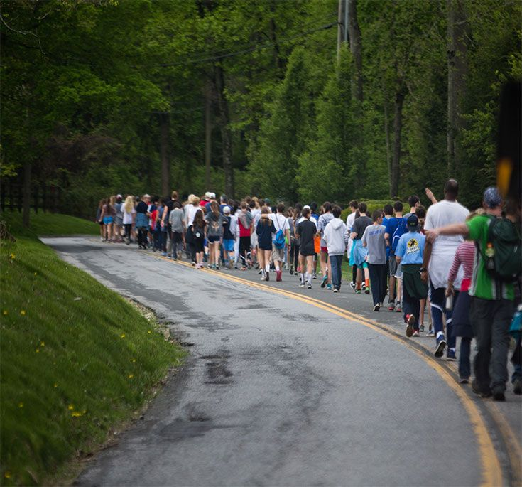 Ask any RCS student and they will tell you that one of their favorite days of the year is Walk to Cisqua Day when the entire Upper Campus makes the four-mile trek up Guard Hill Road to visit their Lower Campus schoolmates.