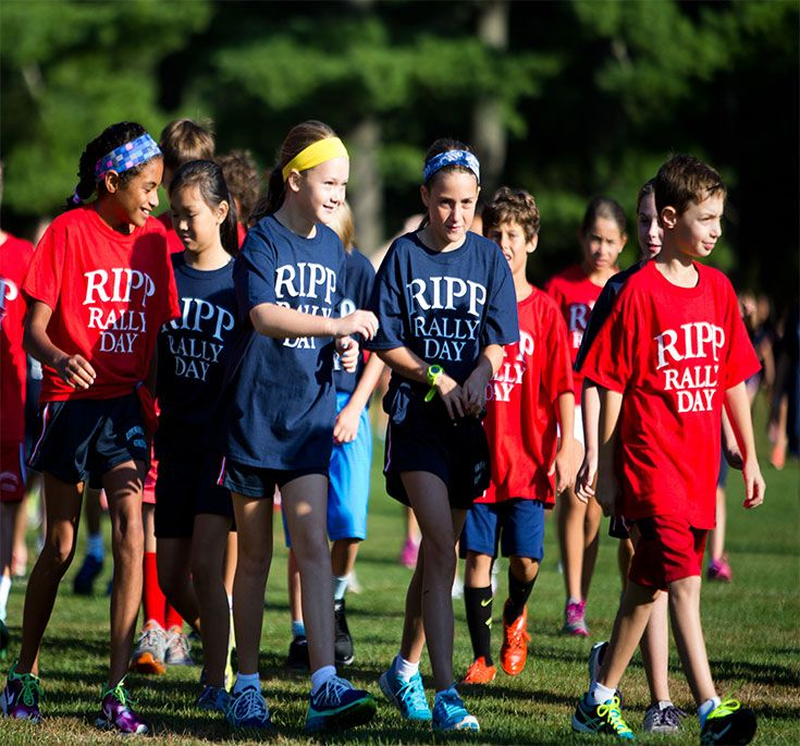 School spirit is celebrated each September on Ripp Rally Day. Students and faculty leave the classroom behind for a fun-filled day on the Meyers Fields.