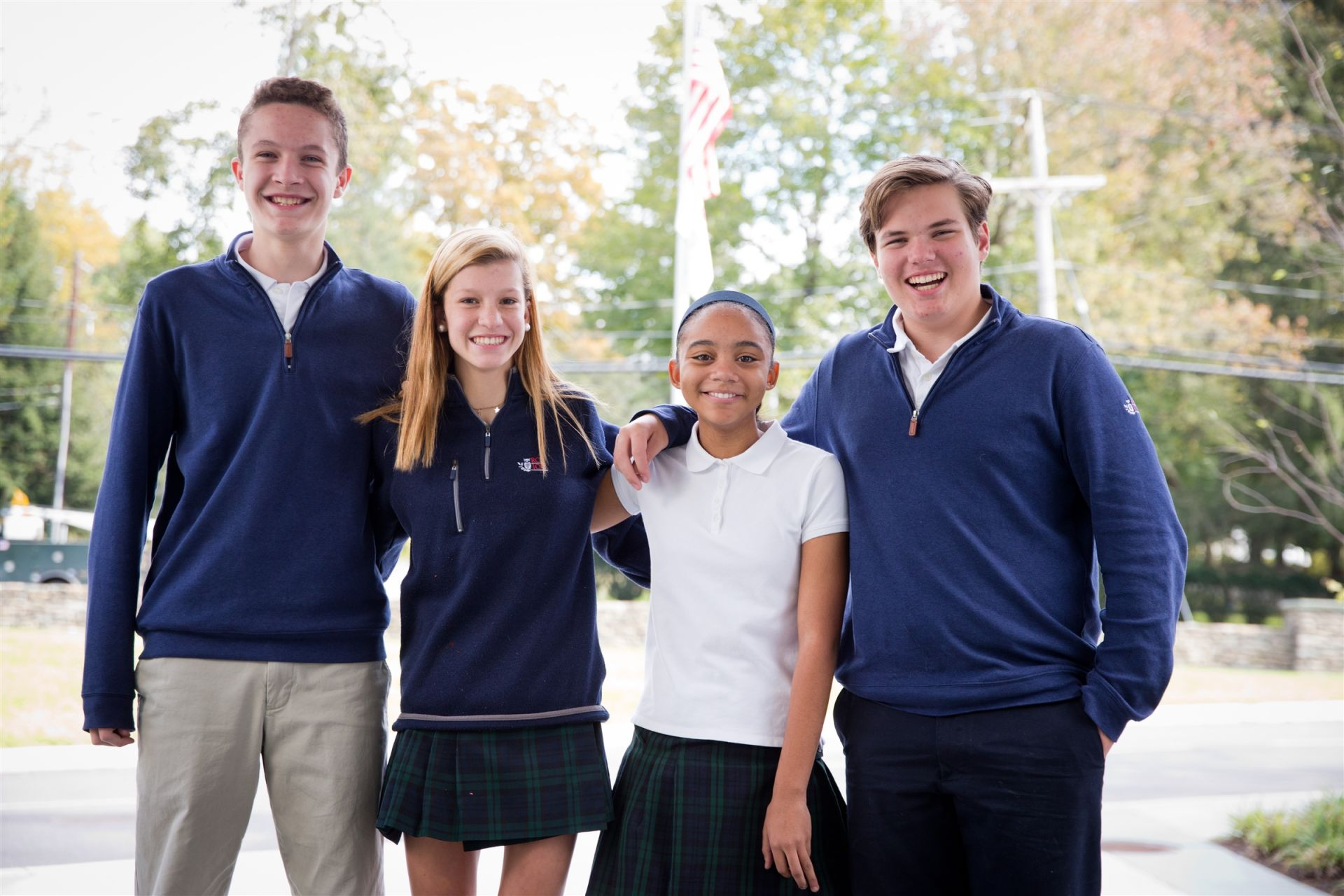 Peer-elected student leadership positions include Class President, Class Secretary, and Class Treasurer as well as Red and Blue Team Captains.