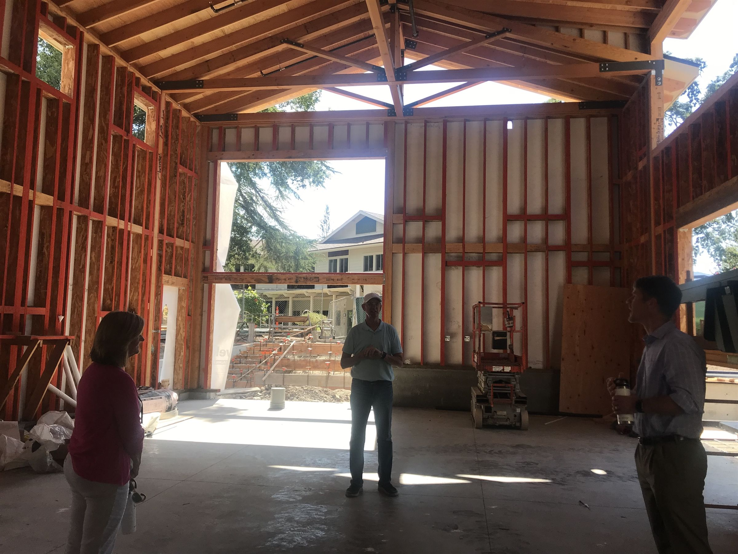September 2019: We toured the Hub building space. We could really see the details that will make this building really come to life for students.