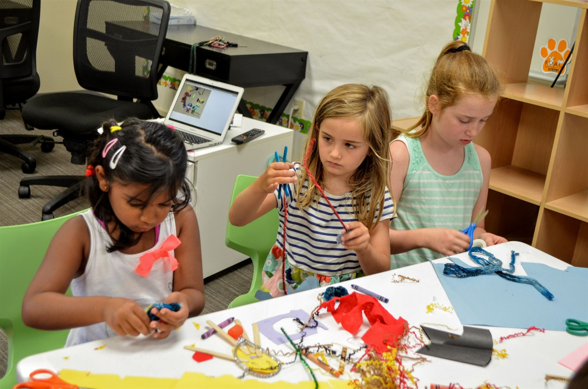 Maker Camp for K-1st grade is a colorful and engaging mix of making, art, and relationship-building.