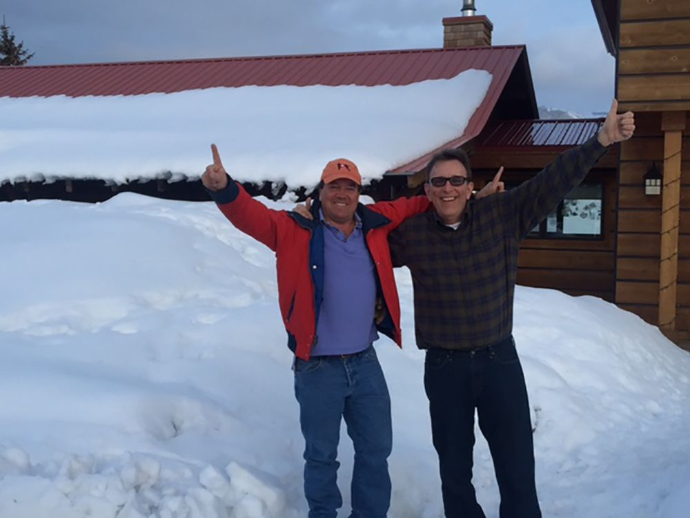 Charles Bowditch '73 & Peter McKillop '73 skiing in Jackson Hole, WY, March 2017