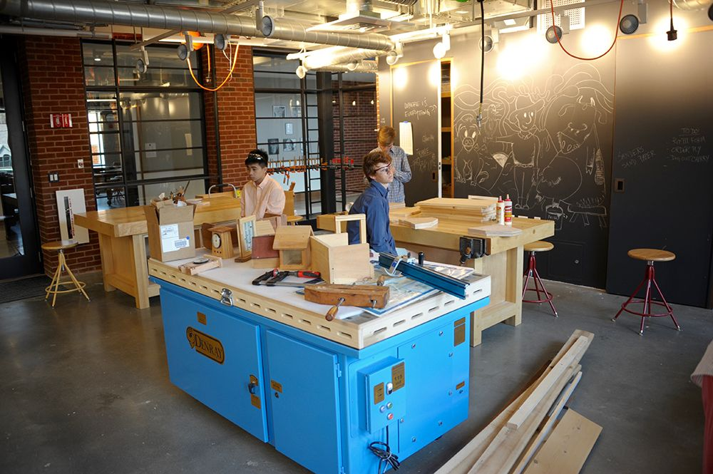 The Wood Shop, located in the Edward P. Evans Academic Center