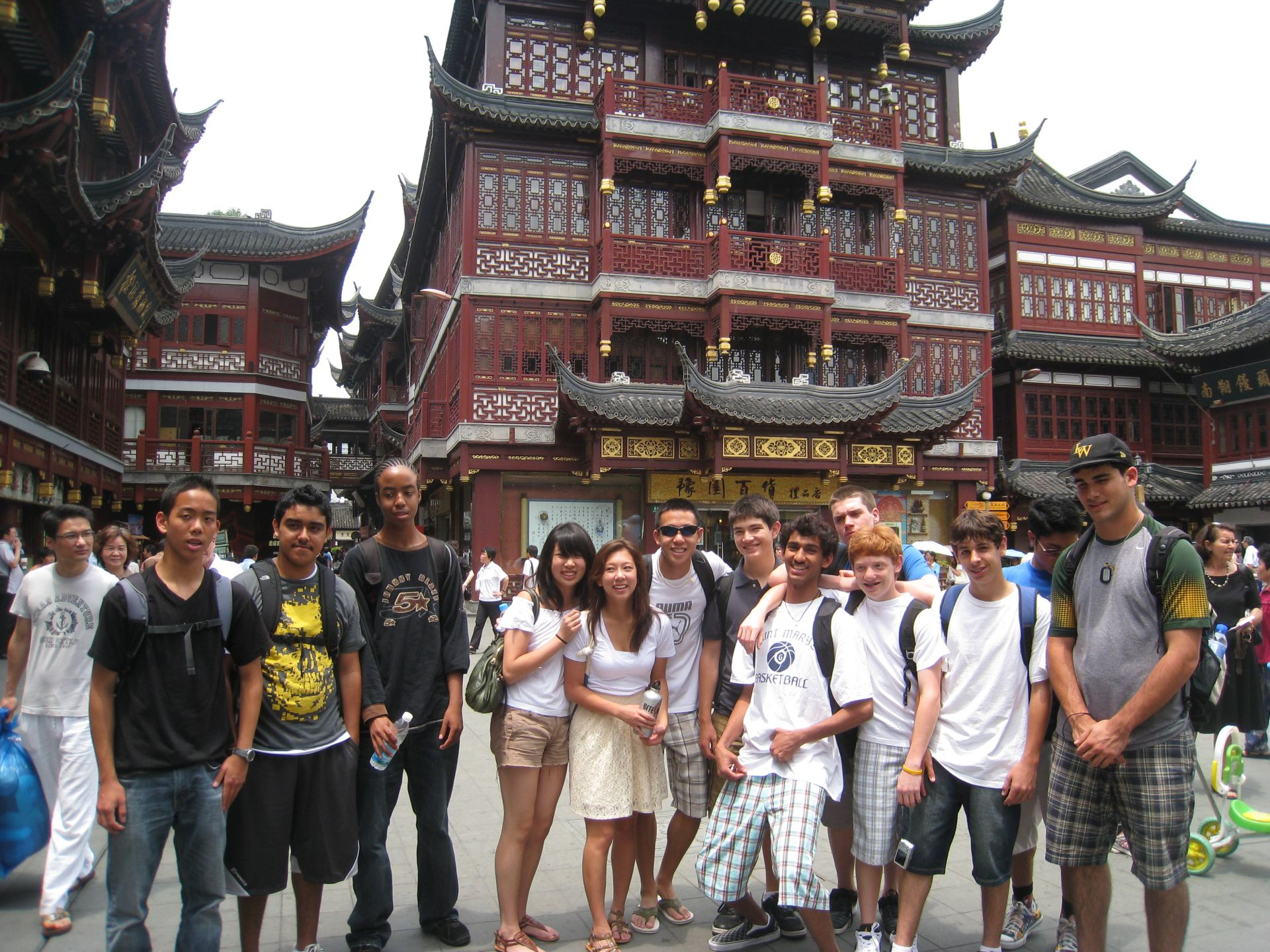 In June 2009, 13 students spent 18 days in China, where they visited major cities like Shanghai, Xian, and Beijing with various language training activities, people interactions, cultural sites visits, cultural activities, and service learning and community services.