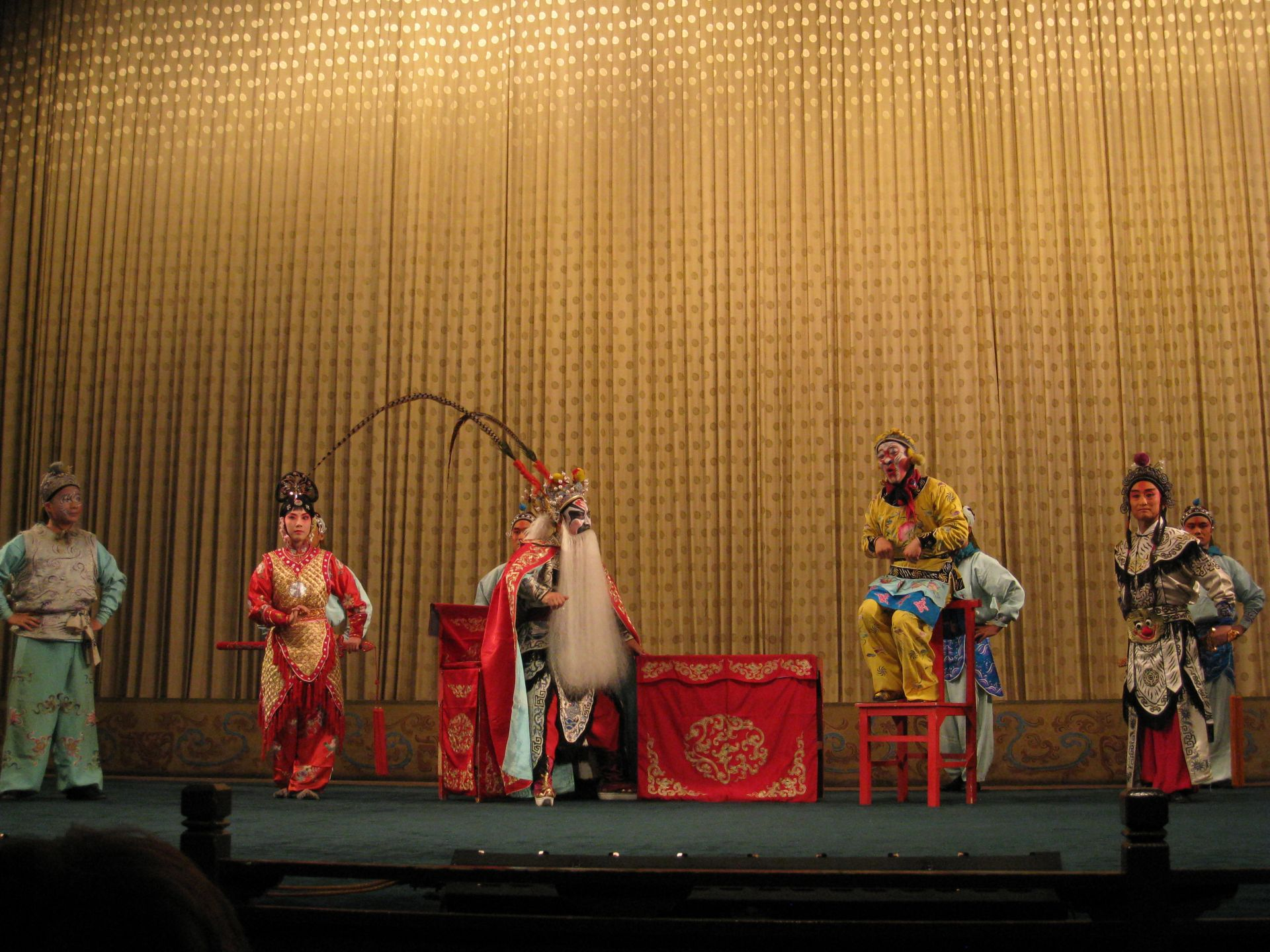 Cultural activities included attending Calligraphy, Brush Painting, Tai Ji lessons; and acrobatic show, opera show and Chinese traditional music and dance show.