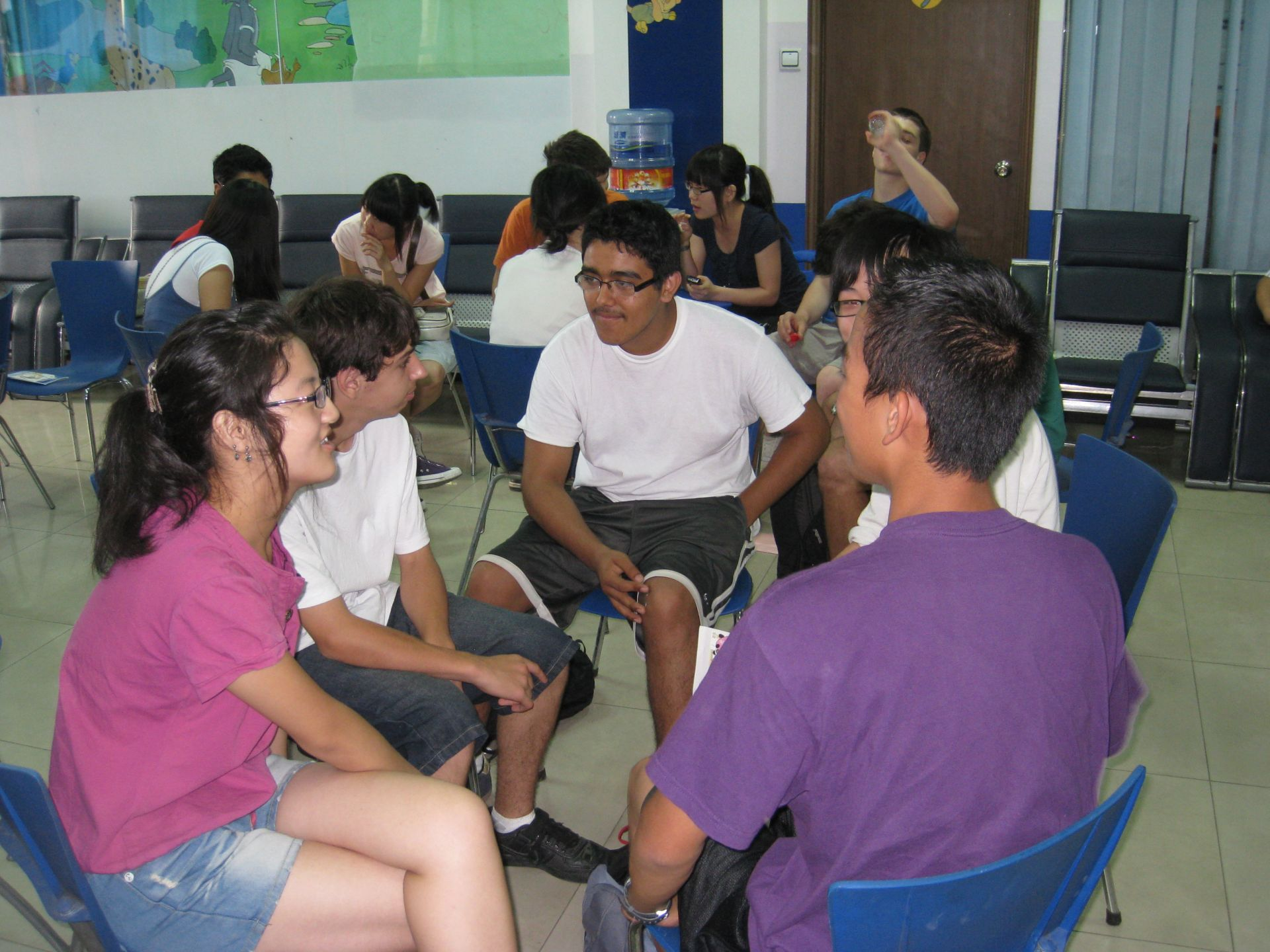 People interactions included organized gathering with multiple college students
