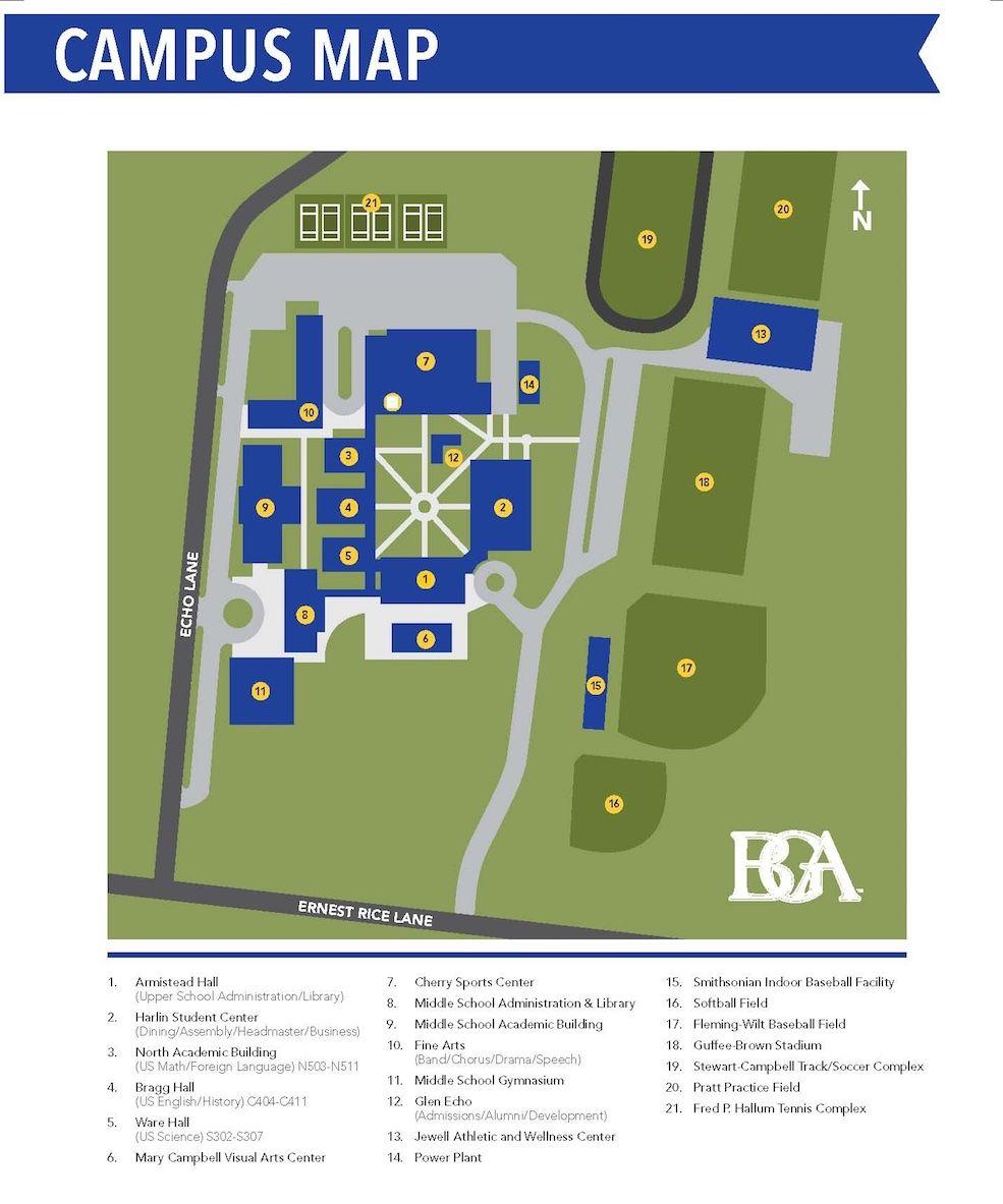 Cherry Creek High School Campus Map.Battle Ground Academy Campus Map