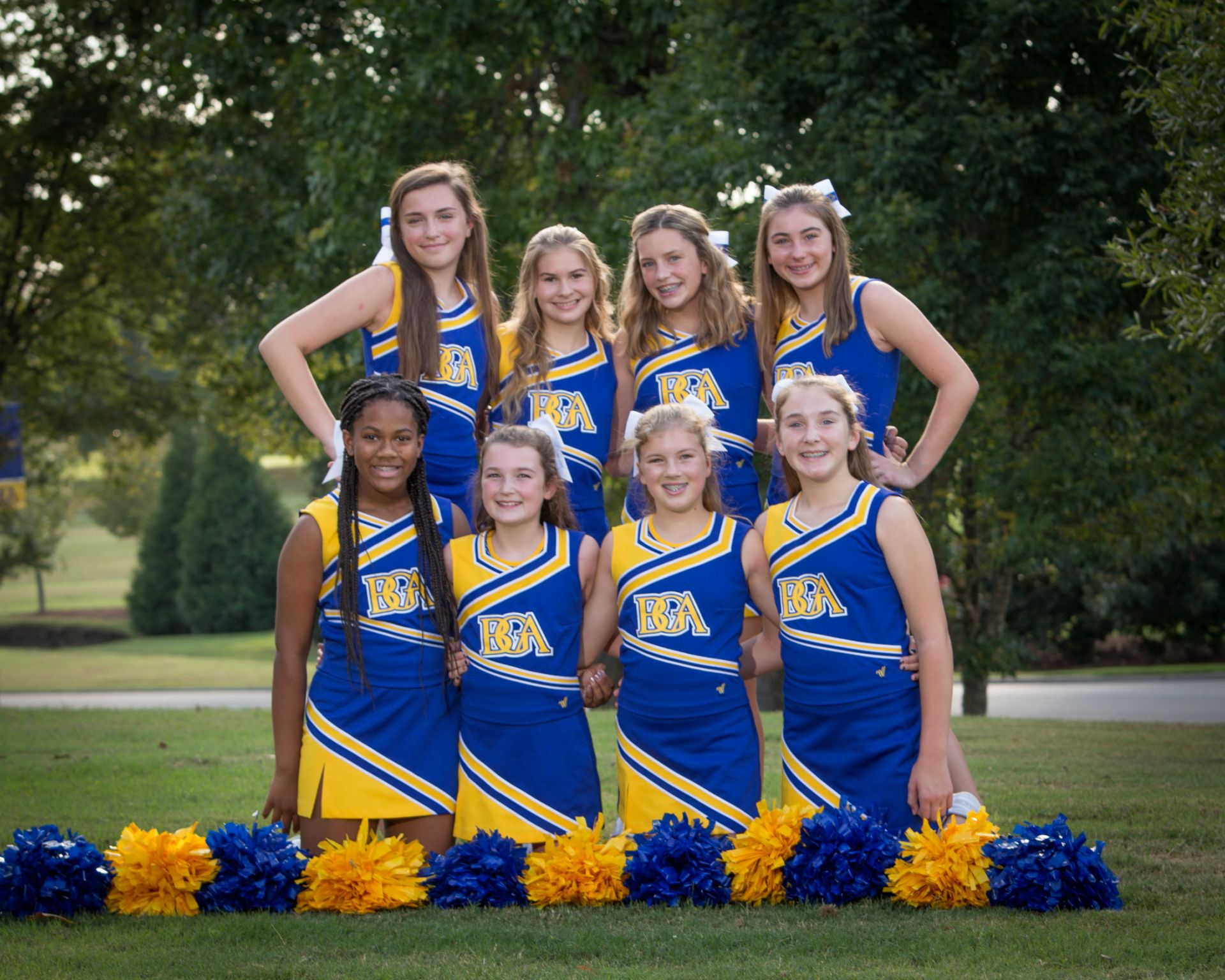 2018 MS Fall Cheerleading Team