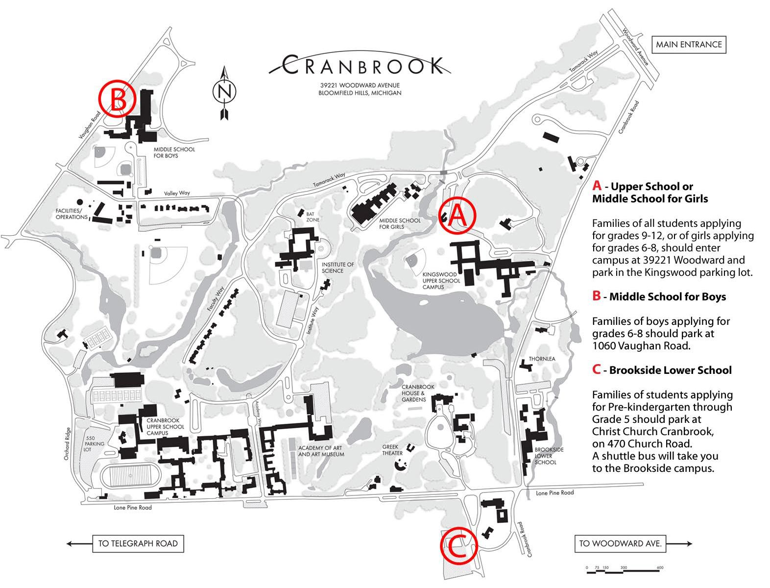 map of cranbrook campus Cranbrook Schools Cranbrook Open House Admission Events At map of cranbrook campus