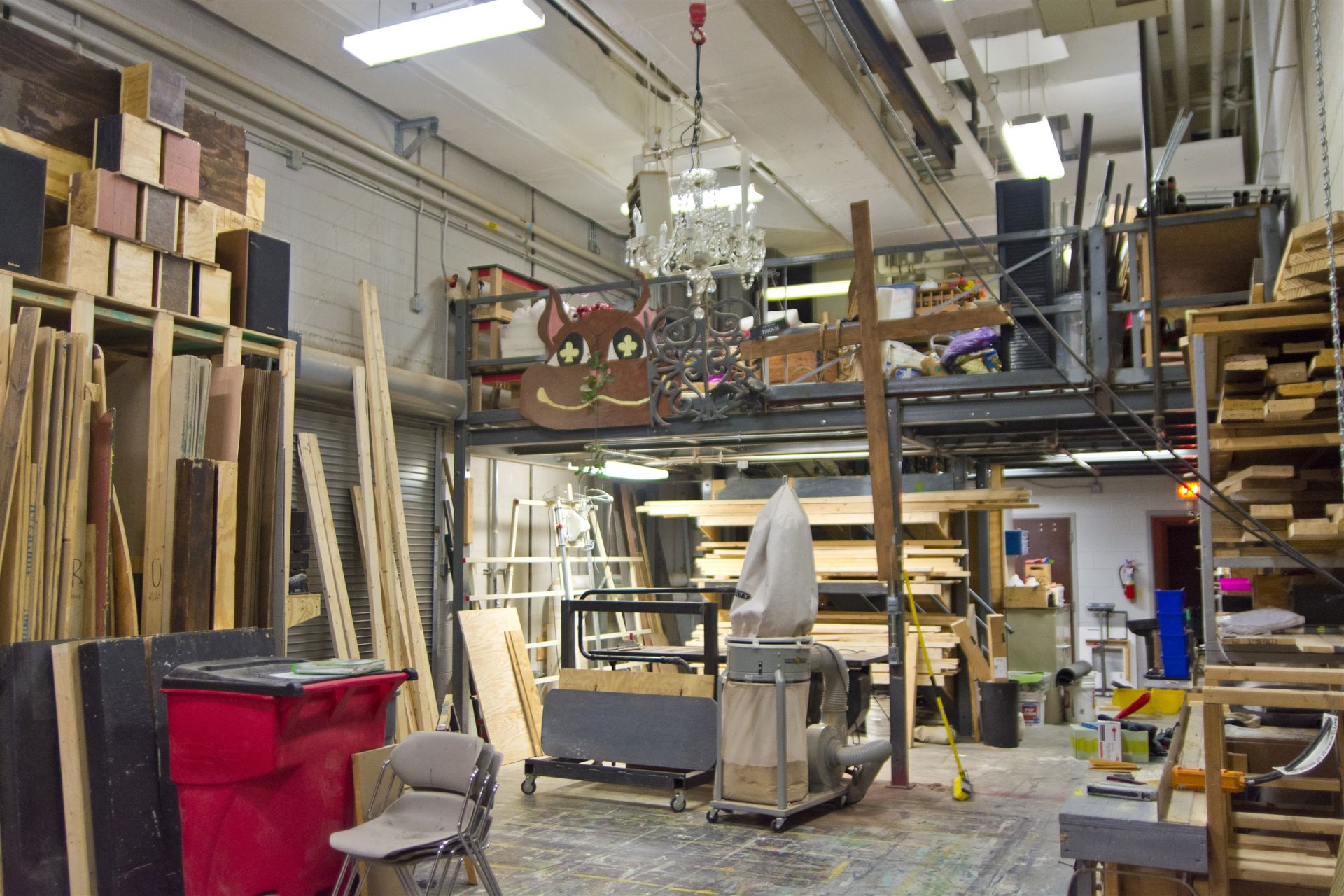 Oates Theater shop room