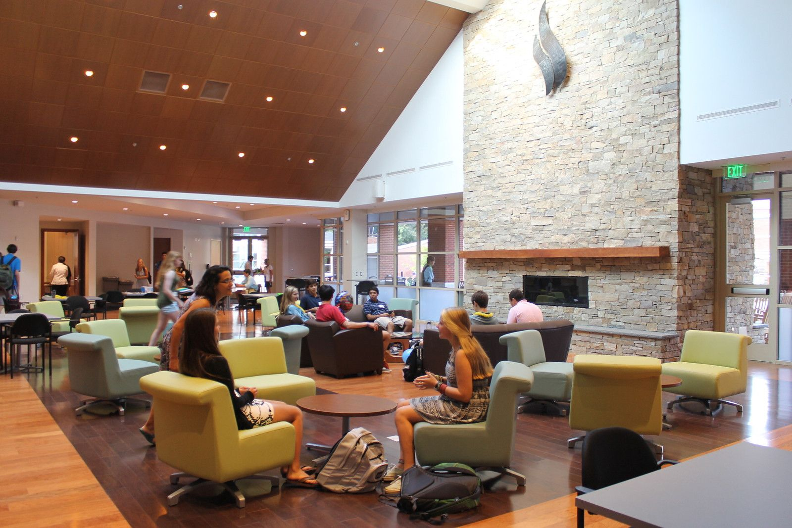 Estes Student Center in the Sharp Academic Commons