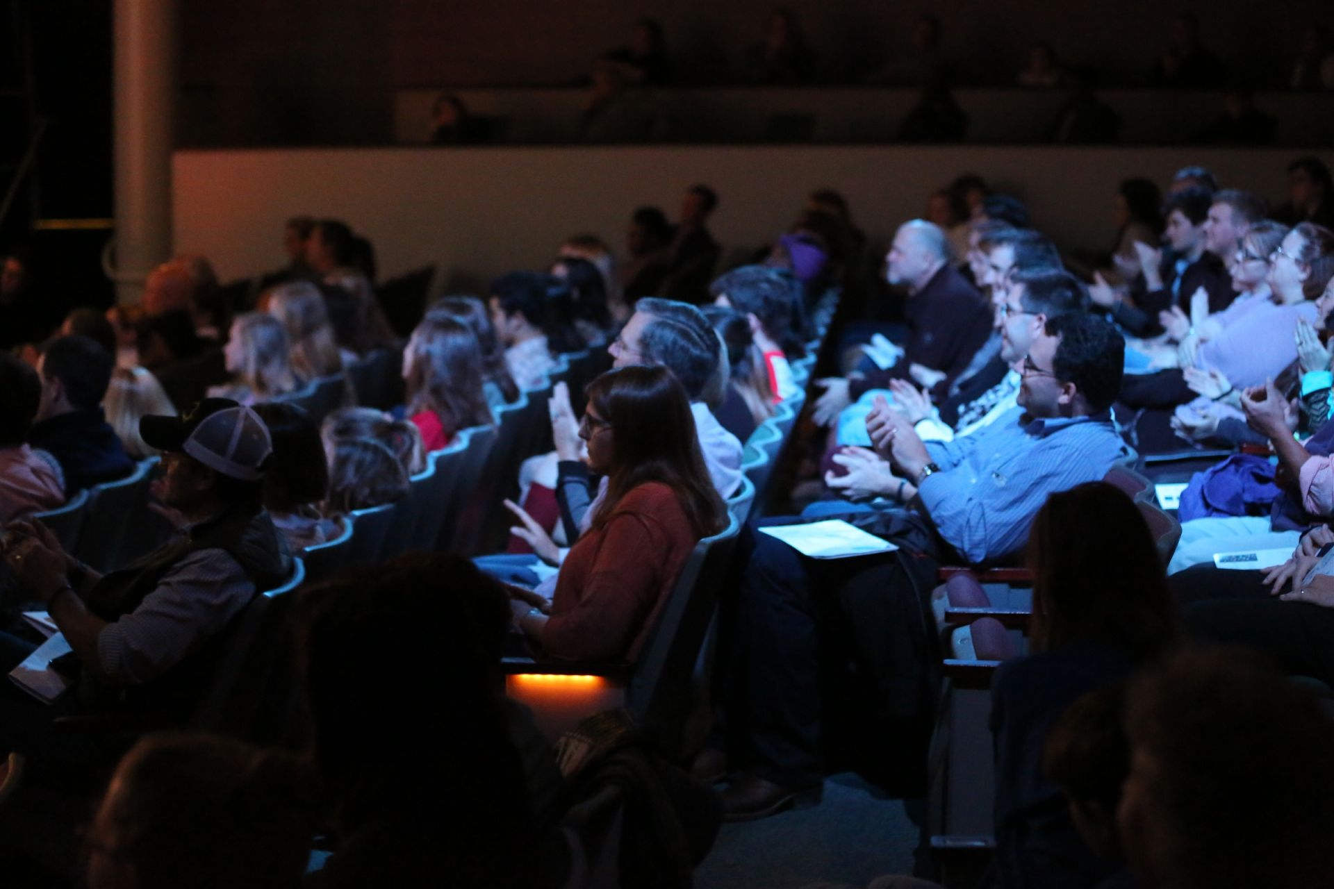 Audience members from the greater Richmond region listen attentively to TEDxYouth@RVA speakers