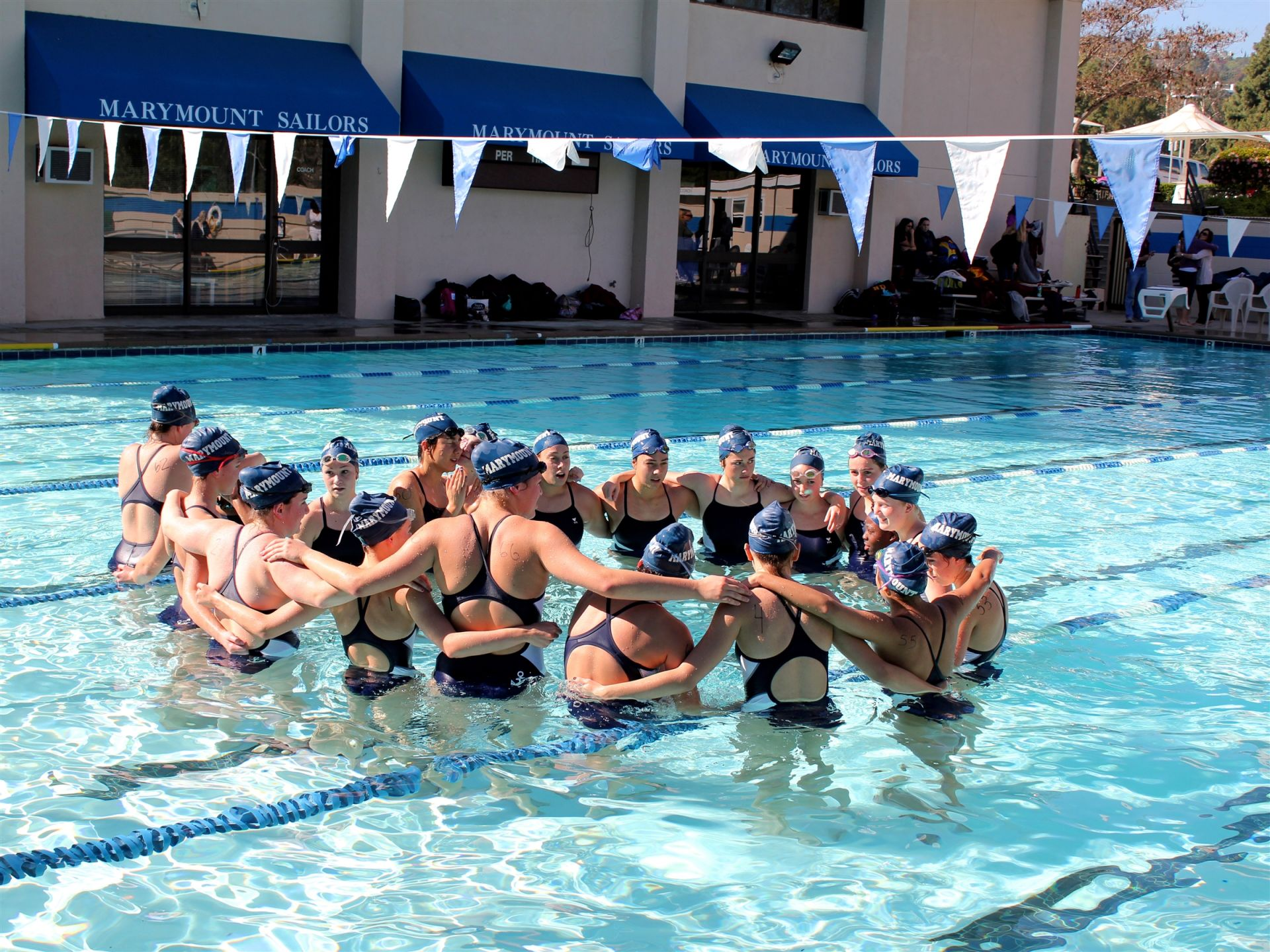 The Aquatics Center is the home of Water Polo in the winter and the Swim Team in the spring.