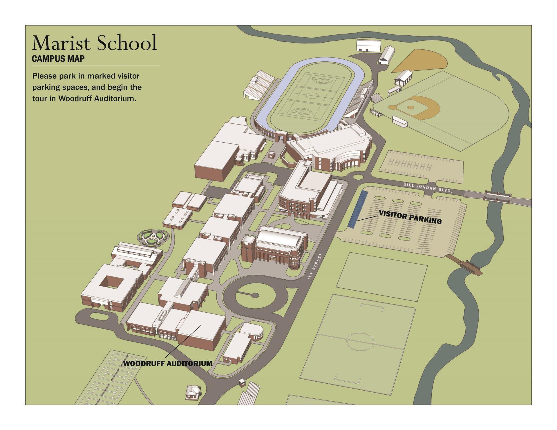 Campus Tour Parking Map