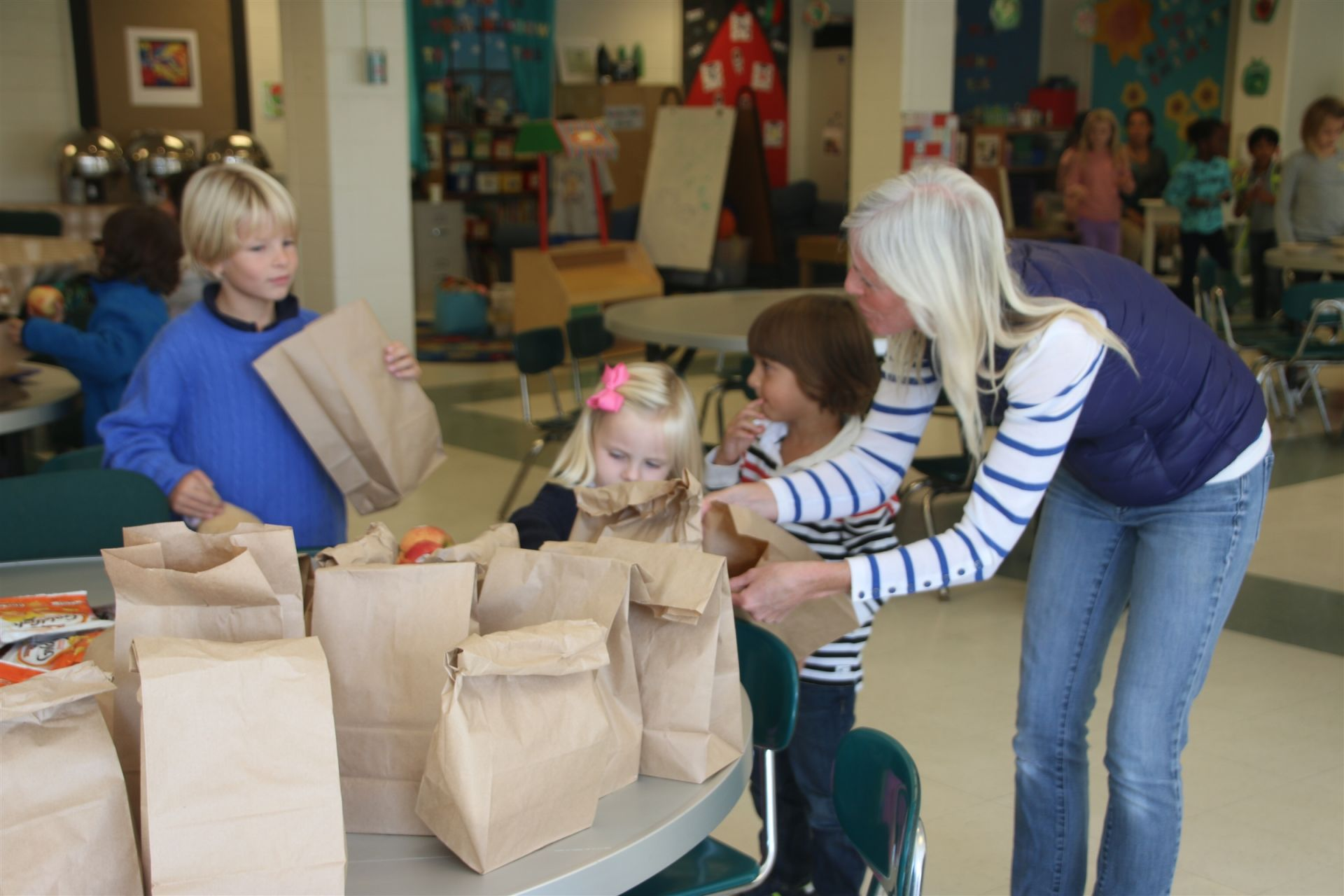 Each month, Beauvoir students gather to pack snacks for their peers in after school programs across Washington. The snacks are picked up and distributed by the DC Central Kitchen.