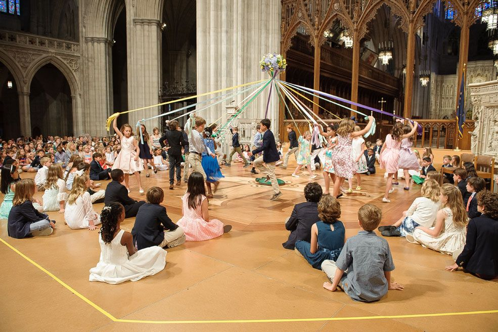 Closing Chapel marks the end of each school year. Third Graders receive certificates and do the Maypole Dance.