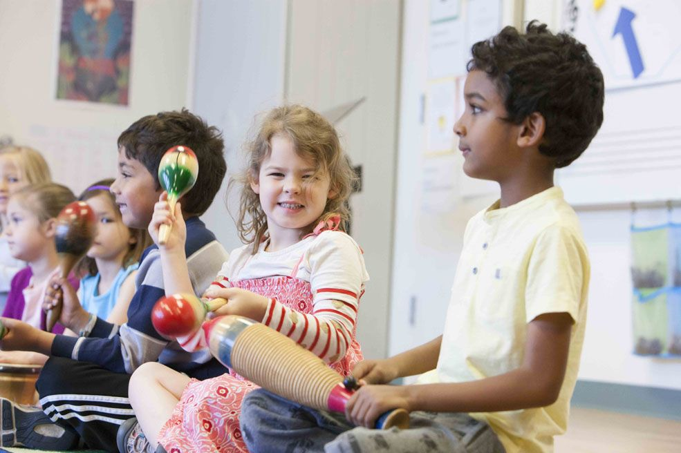 Beauvoir children learn about rhythm, melody, harmony, form and tone through a wide variety of games and activities.