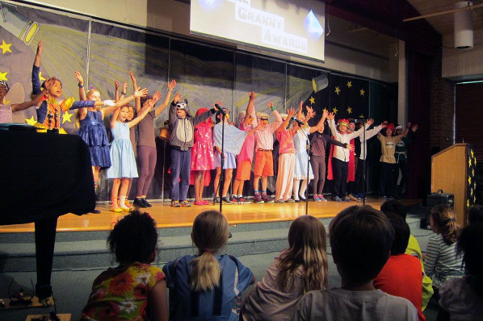 Third Graders perform an annual musical production. We strive to build courageous musicians and performers who develop confidence in themselves over the course of time.