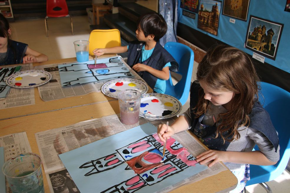 Each year, Beauvoir first graders participate in an extensive study of the art, buildings and grounds, and maintenance of the National Cathedral.