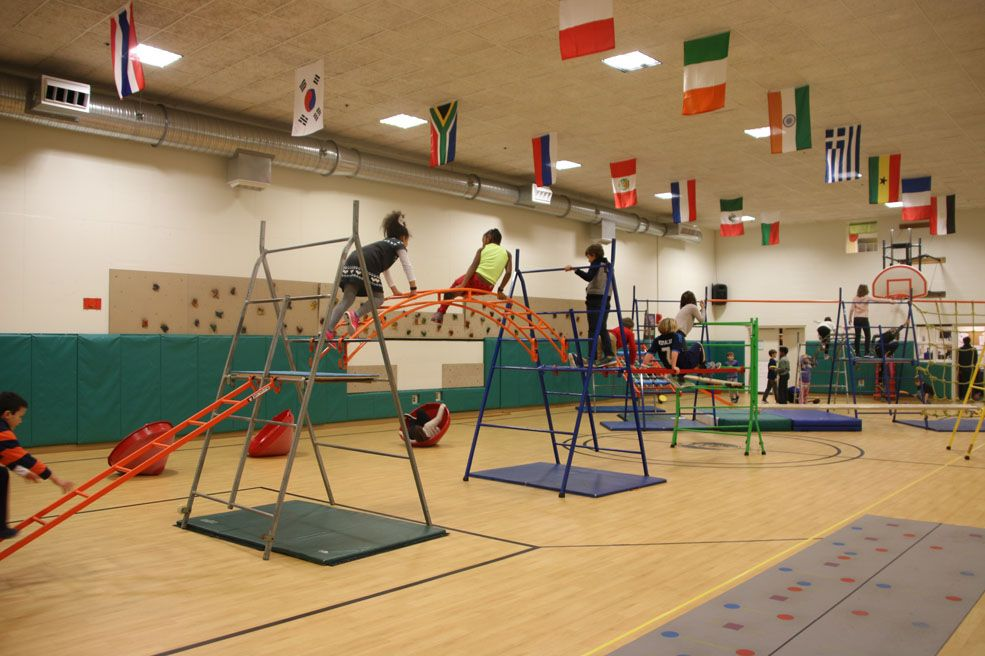 Climbing and obstacle courses are a part of the Beauvoir Physical Education curriculum.