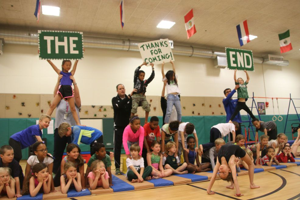 Beauvoir second graders tumbled, jumped, climbed, and balanced in the 2016 Gym Show, an annual Second Grade tradition.